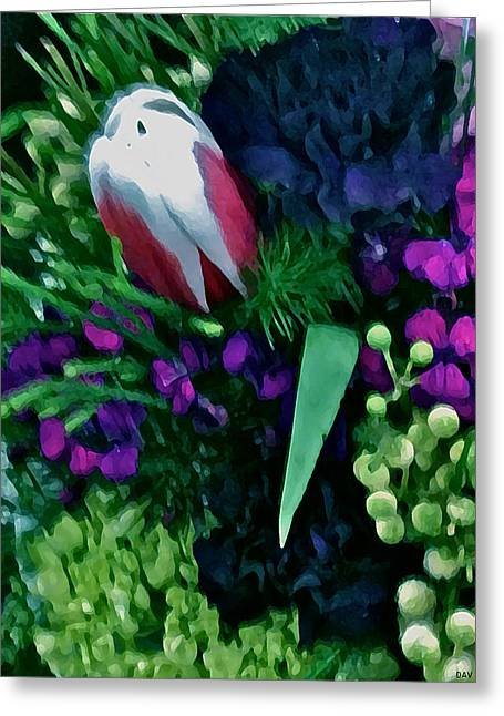 Lively Floral Design Greeting Cards - Floral Bouquet Greeting Card by Debra     Vatalaro