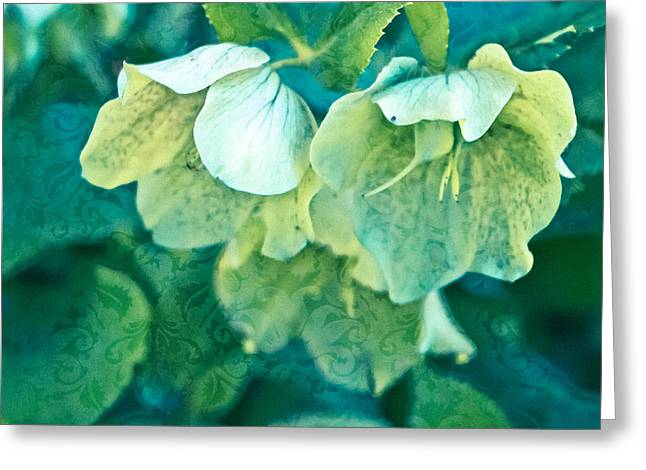Entryway Greeting Cards - Floral Brocade Greeting Card by Colleen Kammerer