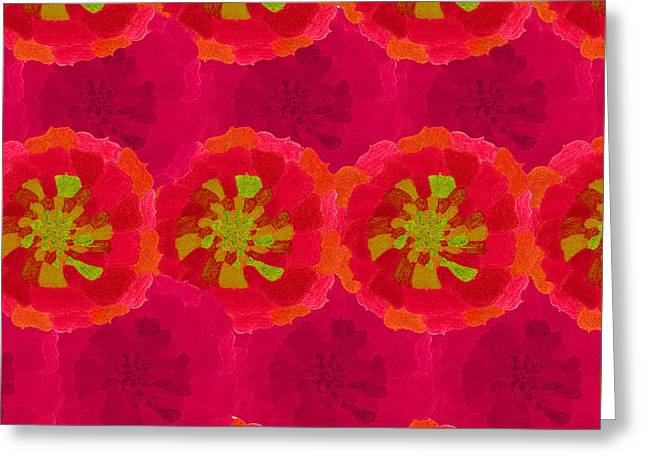 Floral Digital Drawings Greeting Cards - Floral Greeting Card by Claire Eisenzimmer