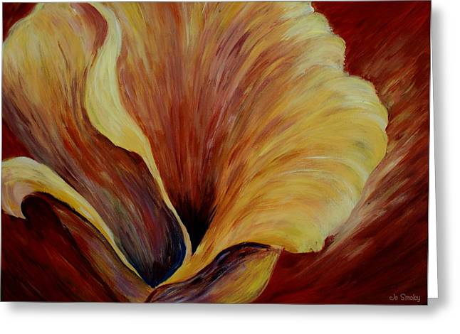 Calla Lily Greeting Cards - Floral Close up Greeting Card by Joanne Smoley