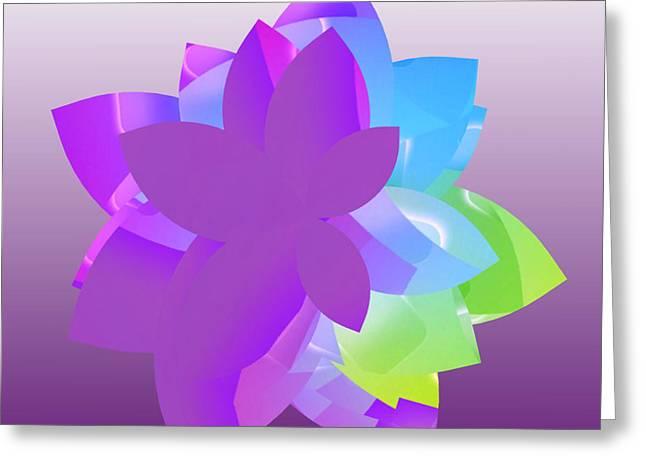 Floral Digital Drawings Greeting Cards - Floral Design Greeting Card by Anita Fugoso