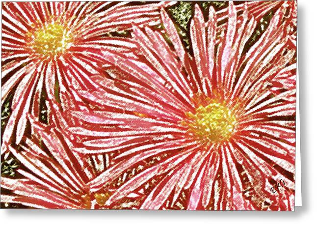 Floral Design No 1 Greeting Card by Ben and Raisa Gertsberg