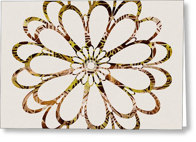 Floral Design Ornament Greeting Card by Frank Tschakert