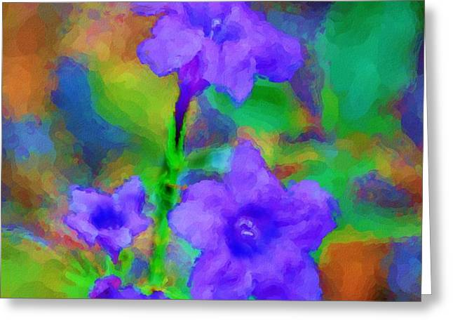 Floral Expression Greeting Card by David Lane