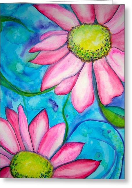 Abstract Style Greeting Cards - Floral Fantasy Greeting Card by Carol Warner