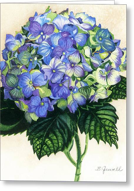 Close Up Paintings Greeting Cards - Floral Favorite Greeting Card by Barbara Jewell