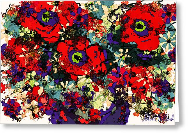 Interior Still Life Mixed Media Greeting Cards - Floral Fiesta Greeting Card by Natalie Holland