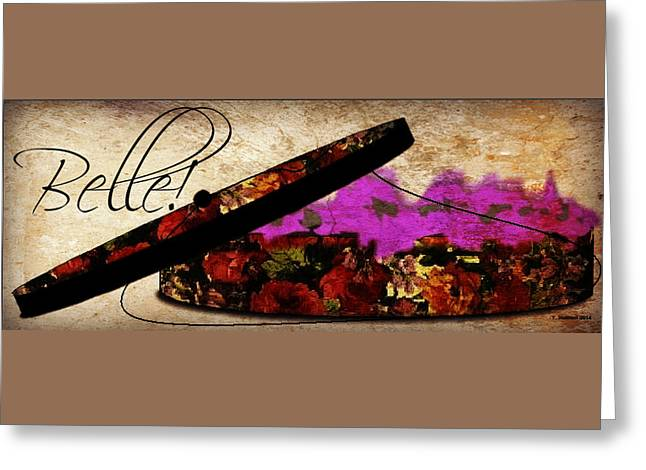 Apparel Greeting Cards - Floral Hat Box - Contact Artist to License Image Greeting Card by Yoli Fae