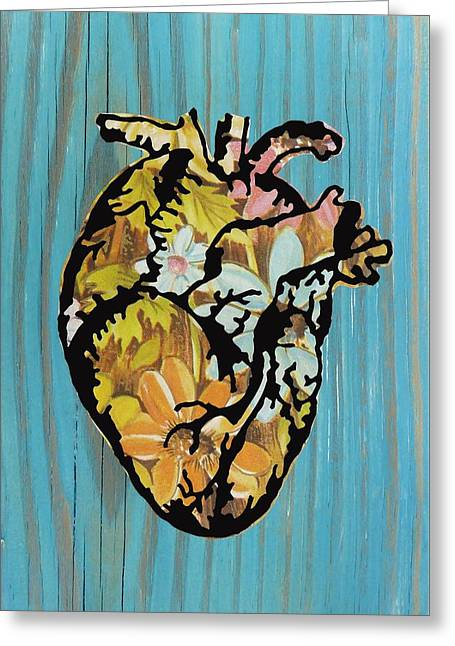Medical Greeting Cards - Floral Heart Greeting Card by Desiree Warren