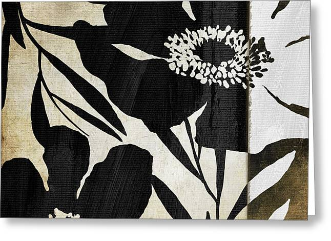 Wildflower Fine Art Greeting Cards - Floral Jungle Lines II Greeting Card by Mindy Sommers