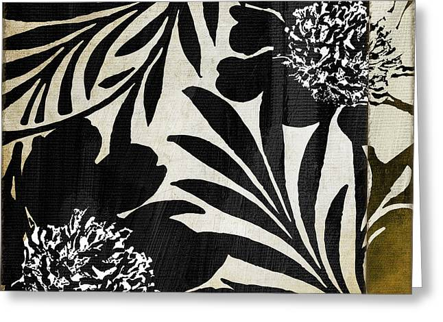 Wildflower Fine Art Greeting Cards - Floral Jungle Lines Greeting Card by Mindy Sommers