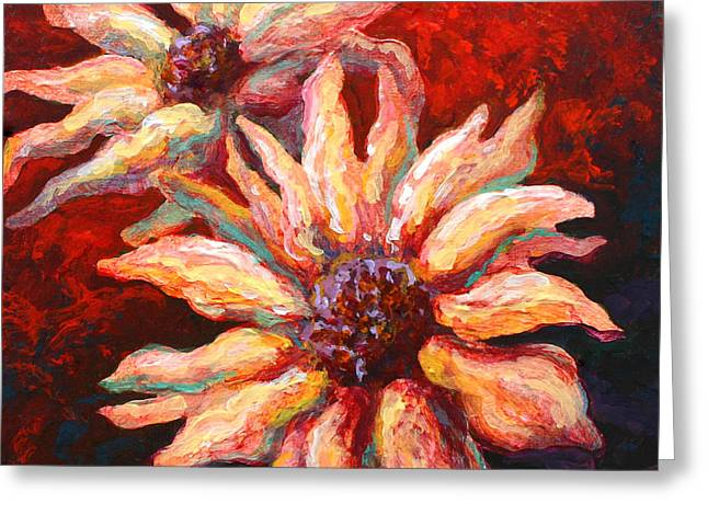 Floral Mini Greeting Card by Marion Rose