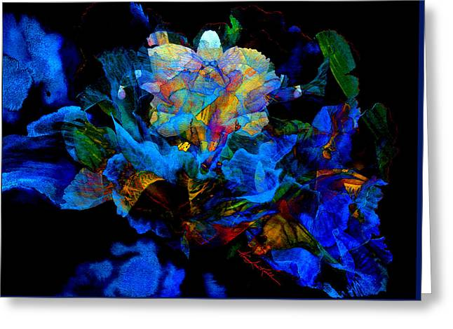 Floral Phantom Greeting Card by Hanne Lore Koehler