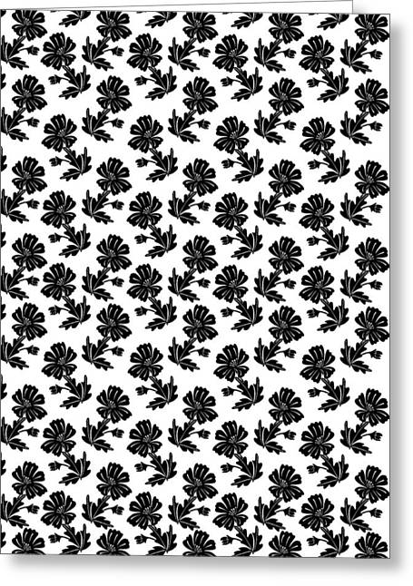 Repeat Drawings Greeting Cards - Floral Repeat 2 Greeting Card by Riya Sharma