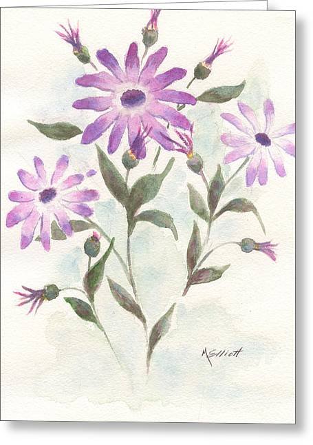 Lavendar Greeting Cards - Floral Study Greeting Card by Marsha Elliott