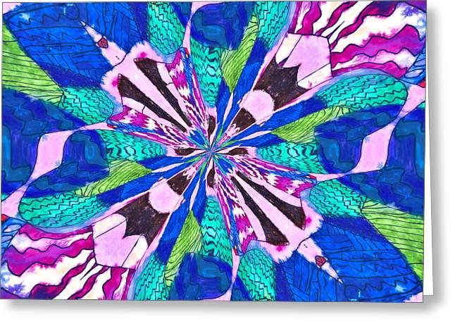 Floral Thing Greeting Card by Susan Leggett