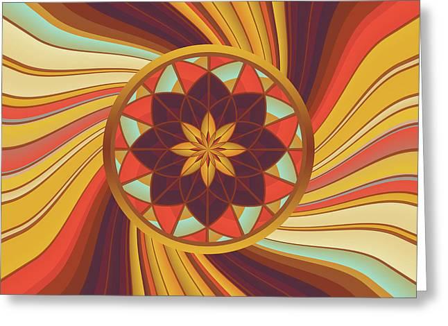 Floral Vortex Greeting Card by Gaspar Avila