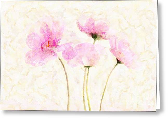 Textured Floral Greeting Cards - Floralitou - 1213w19 Greeting Card by Variance Collections