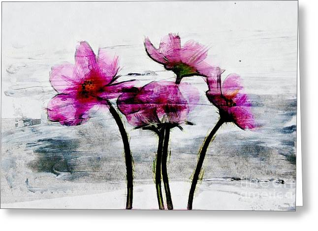 Texture Floral Greeting Cards - Floralitou - 1432a Greeting Card by Variance Collections