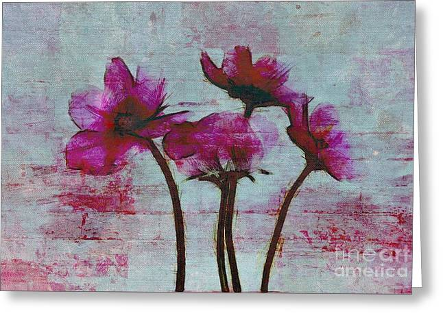 Textured Floral Greeting Cards - Floralitou - 3664-01a Greeting Card by Variance Collections