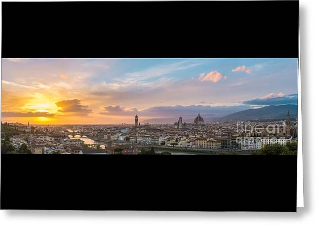 Medical Greeting Cards - Florence at sunset Greeting Card by Dirk Petersen