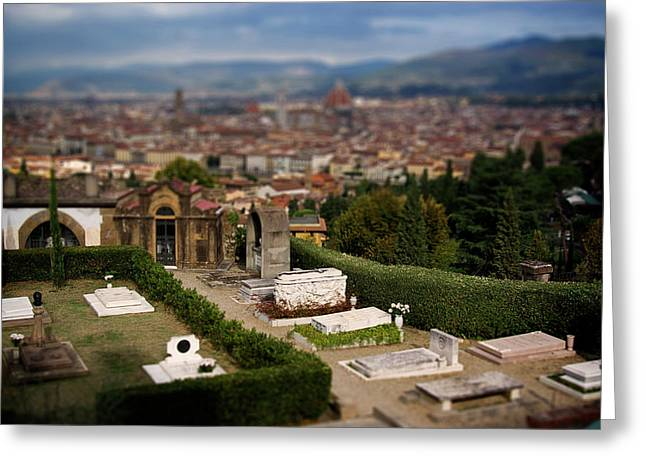 Firenza Greeting Cards - Florence Cemetery Greeting Card by Chuck Parsons