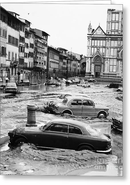 Florentine Greeting Cards - Florence: Flood, 1966 Greeting Card by Granger
