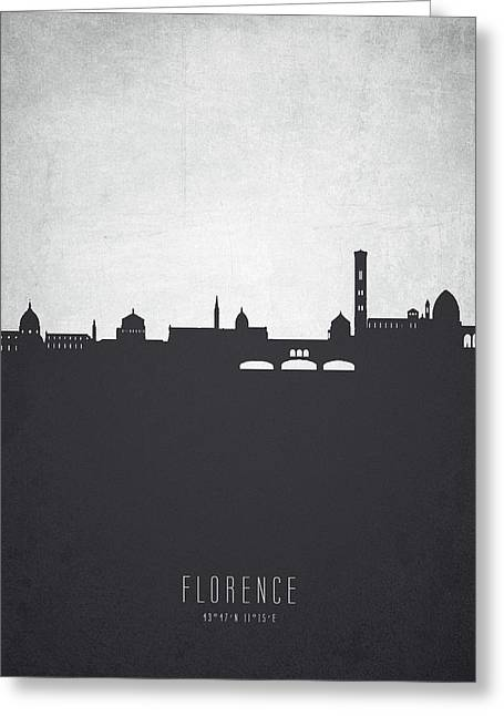 Florence Italy Cityscape 19 Greeting Card by Aged Pixel