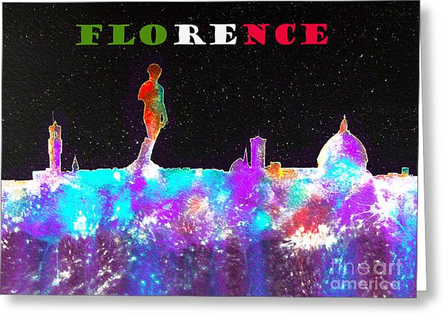 Firenza Greeting Cards - Florence Italy Skyline Greeting Card by Bill Holkham