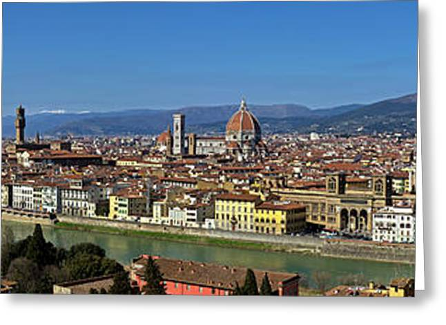 Croce Greeting Cards - Florence Panorama Greeting Card by Kenton Smith