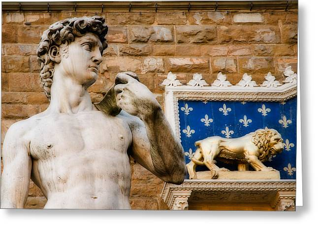 Michaelangelo Greeting Cards - Florentine Icons Greeting Card by Mick Burkey
