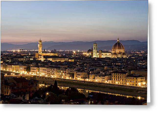 Italian Sunset Greeting Cards - Florentine Lights Greeting Card by Michelle Sheppard
