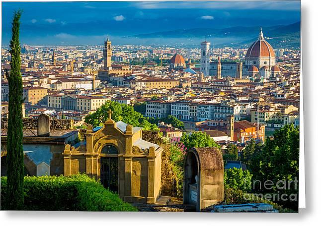 Florentine Vista Greeting Card by Inge Johnsson