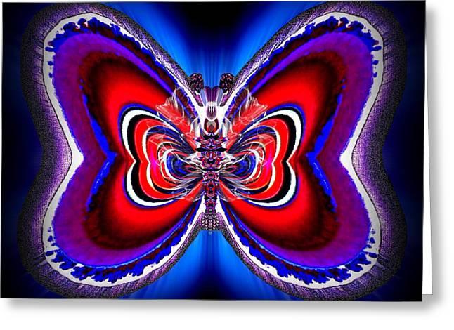 Angel Blues Greeting Cards - Florian Hazelshore Greeting Card by Raymel Garcia