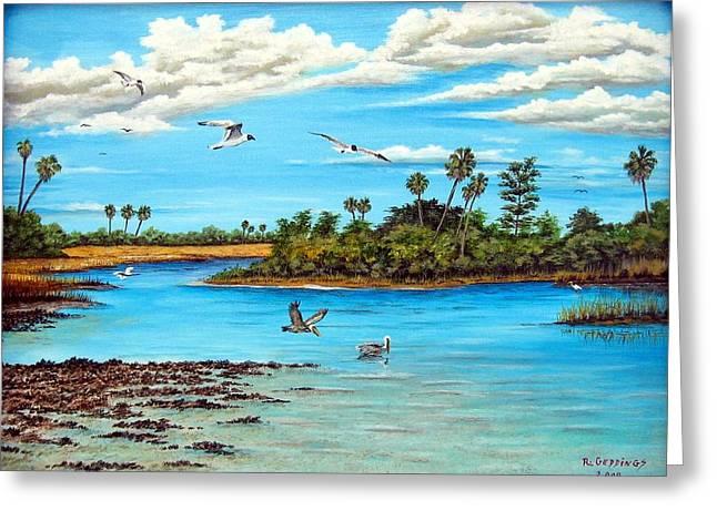 Florida Bayou Greeting Card by Riley Geddings