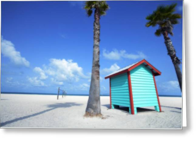 Florida Beach Dressing Room Greeting Card by Skip Nall