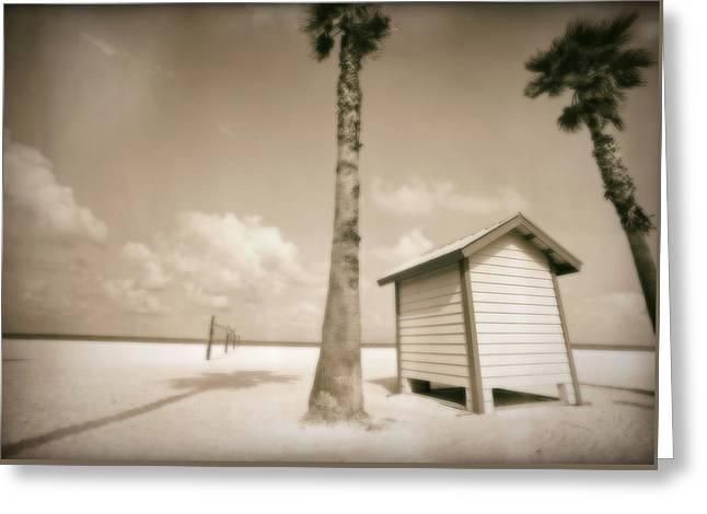 Dressing Room Greeting Cards - Florida Beach Greeting Card by Skip Nall