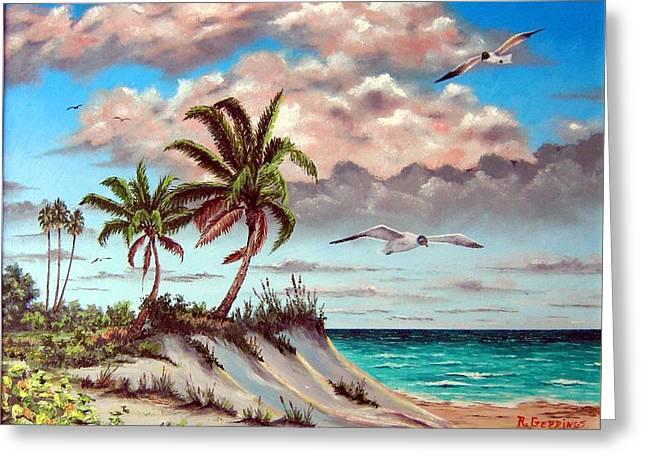 Florida Gulf Dune Greeting Card by Riley Geddings