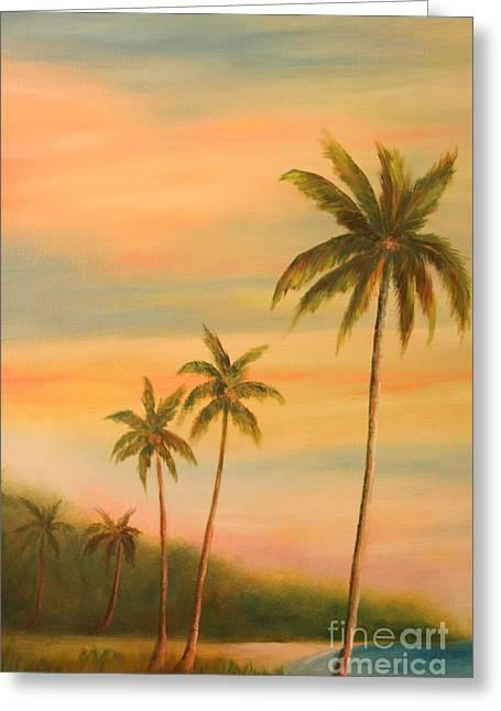 Florida Palms Trees Greeting Card by Gabriela Valencia