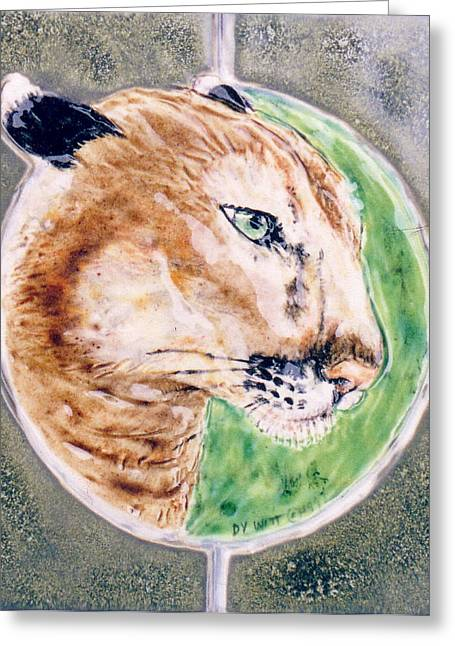 Best Sellers -  - Ceramic Ceramics Greeting Cards - Florida Panther Greeting Card by Dy Witt