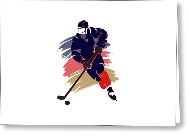 Ice-skating Greeting Cards - Florida Panthers Player Shirt Greeting Card by Joe Hamilton