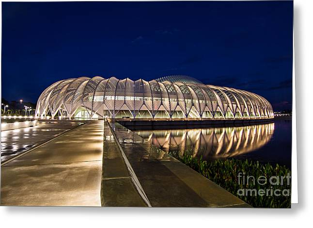 Auburndale Greeting Cards - Florida Polytechnic at Night Greeting Card by Karl Greeson