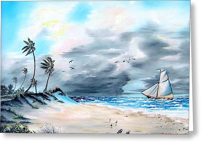 Florida Tempest Greeting Card by Riley Geddings