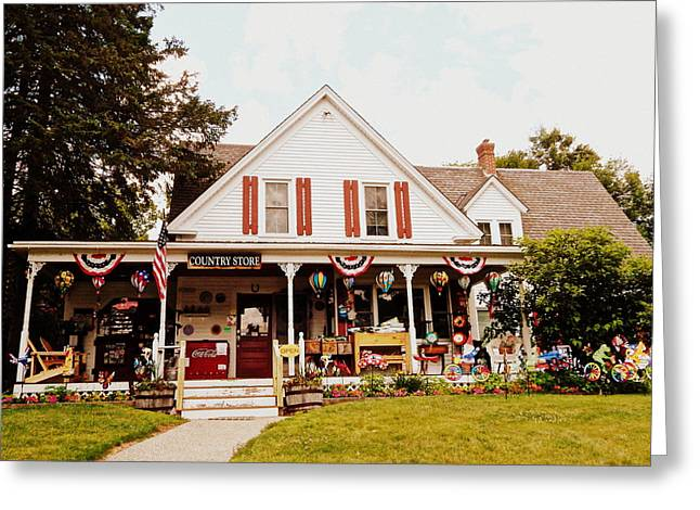 Store Fronts Greeting Cards - Flossies General Store Greeting Card by Karen Cook