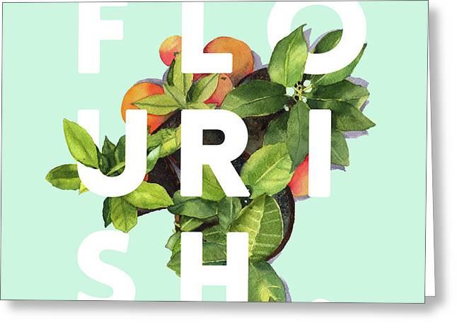 Flourish Greeting Card by Uma Gokhale