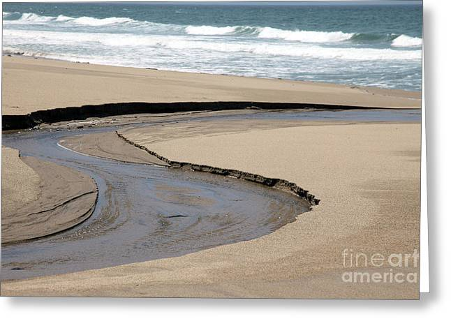 Pacific Ocean Prints Greeting Cards - Flow - Scott Creek  Greeting Card by Amanda Barcon