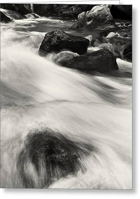 Water Flowing Greeting Cards - Flow Greeting Card by Gerd Doerfler