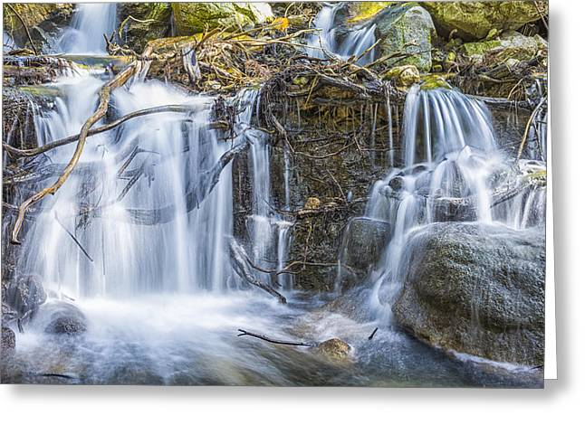 Big Sur Greeting Cards - Flow Greeting Card by Joseph S Giacalone