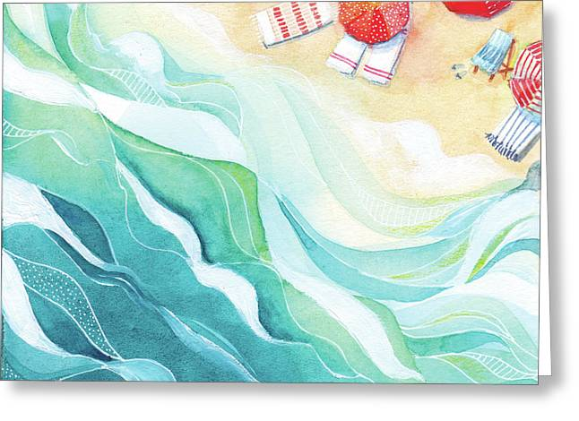 Flow Greeting Card by Stephie Jones
