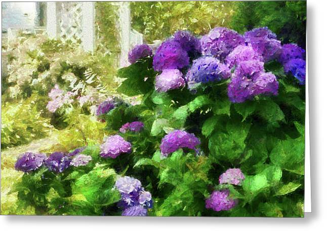 Flower - Hydrangea - Lovely Hydrangea  Greeting Card by Mike Savad